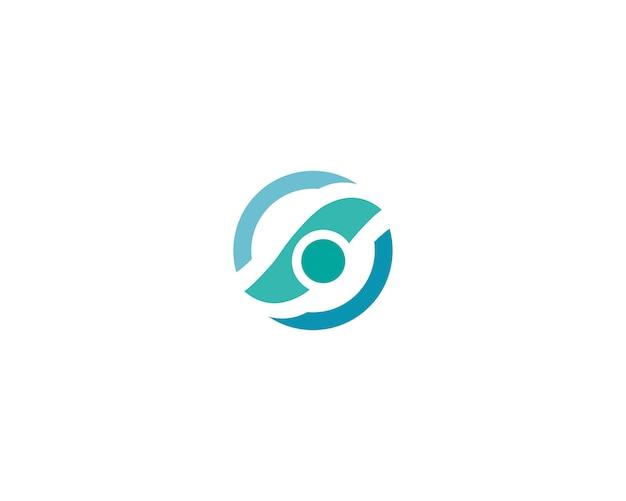 波ビーチのロゴとシンボルのテンプレートアイコンアプリ