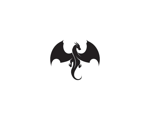 ヘッドドラゴンフラットカラーのロゴのテンプレートベクトルイラスト