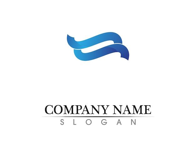 Вода природа логотип и символы шаблона иконы приложение
