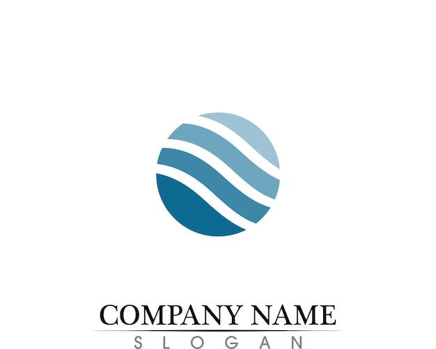 Капли воды логотип шаблон векторные иллюстрации дизайн