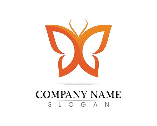 ベクトル - 蝶の概念のシンプルでカラフルなアイコン。ロゴ。ベクトルイラスト