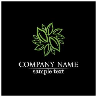 Листья дерева вектор дизайн эко дружественных концепции логотип