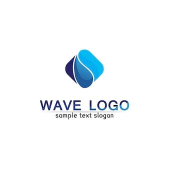 波ビーチのロゴとシンボルテンプレートアイコンアプリ