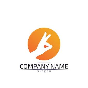 Шаблон логотипа кролика