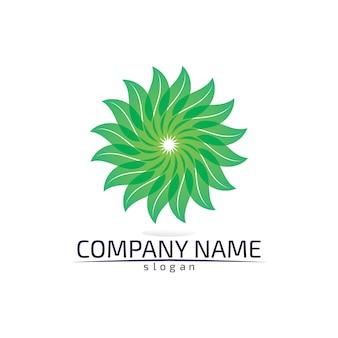 Экологичный логотип из листьев дерева