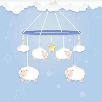 羊の赤ん坊の携帯電話