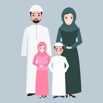 アラビア人、イスラム教徒の人々のアイコン