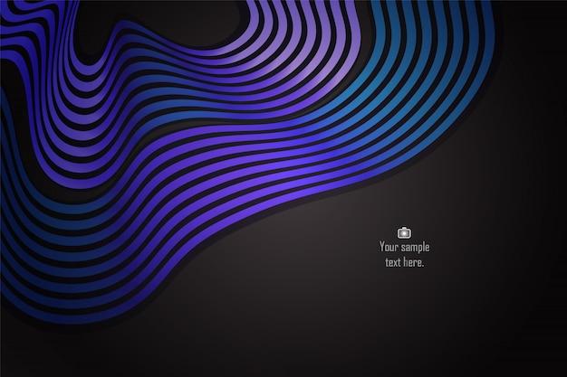 ブルーグラデーションの抽象的な波状の背景