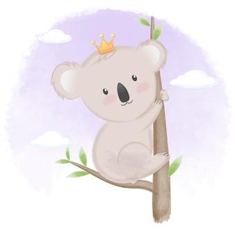 かわいいコアラ手描き動物イラスト