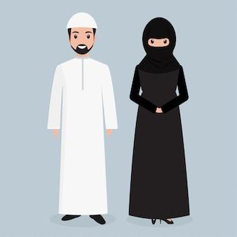 アラビア人の人々のアイコン、イスラム教徒のイラスト