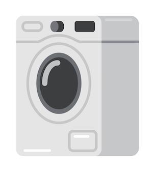 フラットスタイルのベクトル図で洗濯機