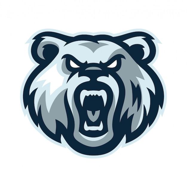 Медведь логотип талисман шаблон векторная иллюстрация