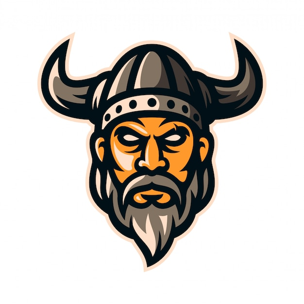 バイキング戦士騎士ロゴマスコット