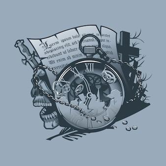 ビンテージ時計のタトゥー組成