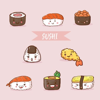 Суши еда японская