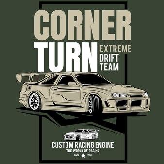 Классик супер быстрый, плакат спортивного классического автомобиля