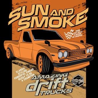 Солнце и дым супер дрейф