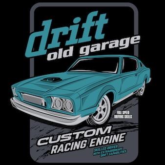 古いガレージを漂流