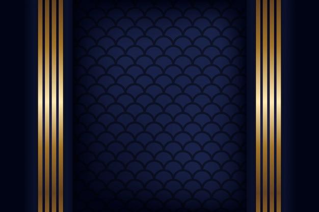 暗い青色の抽象的な概念の多角形の技術の背景。