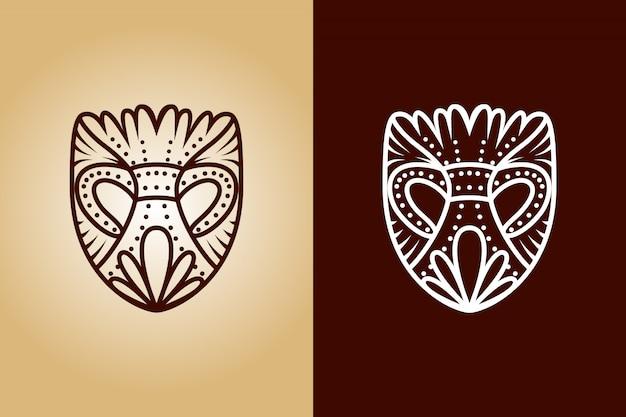 古代のマスクのロゴ