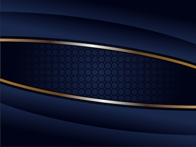 抽象的な幾何学的な暗い青色の背景