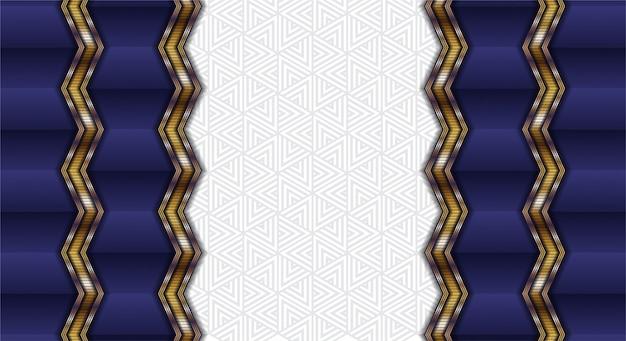 ストレートゴールドウェーブの紫のグラデーションカーテン