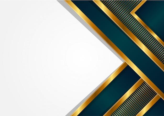 抽象的な三角形ポリゴンの豪華な背景。ゴールドグラデーションのストリップパターン。モダンな幾何学的なスタイル。