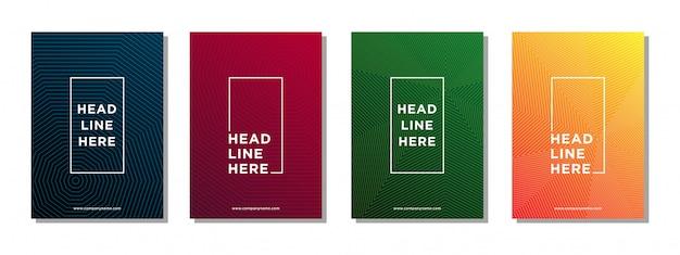 ビジネスパンフレットの表紙の抽象的な線パターン背景