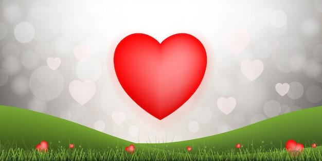 Абстрактный красный фон сердца.