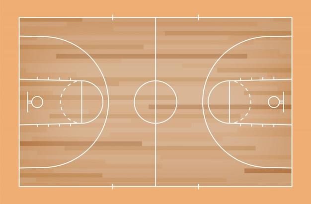 行パターンの背景を持つ緑のバスケットボールコートの床