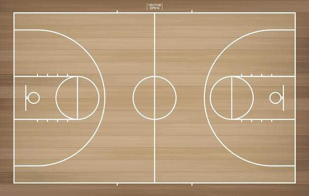 背景のバスケットボールコート。