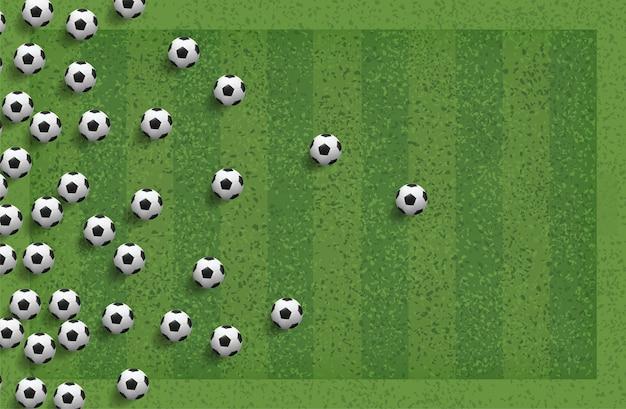 Абстрактный футбольный мяч для фона.