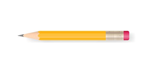 白い背景に黄色の鉛筆。