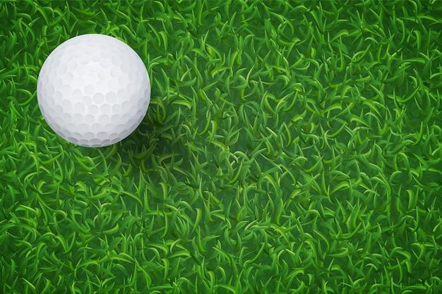 緑の芝生のゴルフボール。