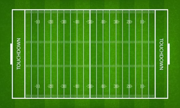 アメリカンフットボールフィールド。