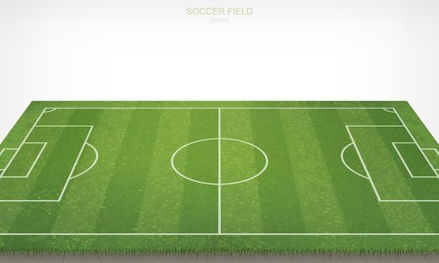 サッカーのフットボールフィールド。