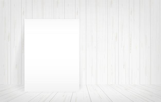 Пустой бумажный плакат в пространстве пространства.