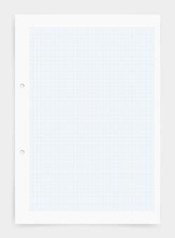 青いグリッドパターンのグラフ紙のシートの背景。