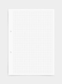 グリッドパターンを持つ紙のシートの背景をグラフ化する。