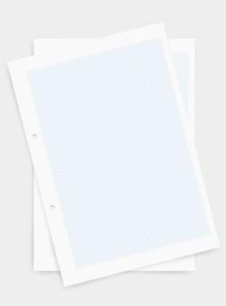 青いパターンのグラフ紙のシートの背景。