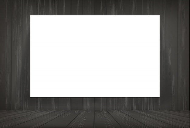 Белая бумага в темной комнате космический фон.