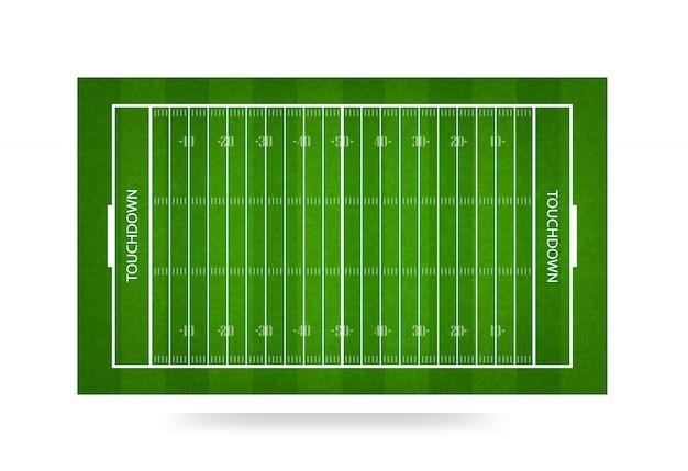 アメリカンフットボールフィールドの背景。