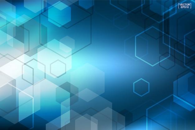 抽象的な青い技術の背景。