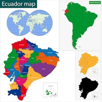 エクアドル共和国の地図