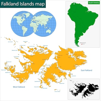 フォークランド諸島の地図
