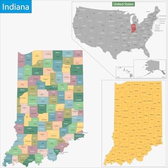 Карта индианы
