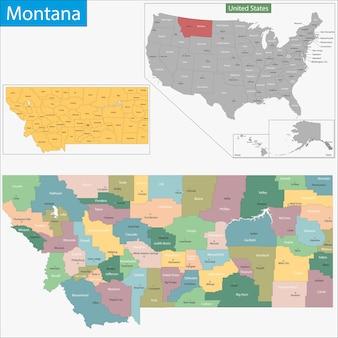 Карта монтаны