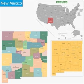 Карта нью-мексико