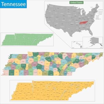 Карта теннесси