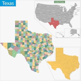 Карта техаса